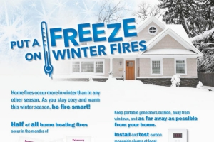 Put A Freeze on Winter Fires – From The National Fire Prevention Association