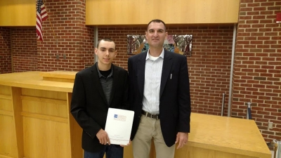 AIR presents a Construction Management Scholarship to a Deserving Glastonbury High School Senior